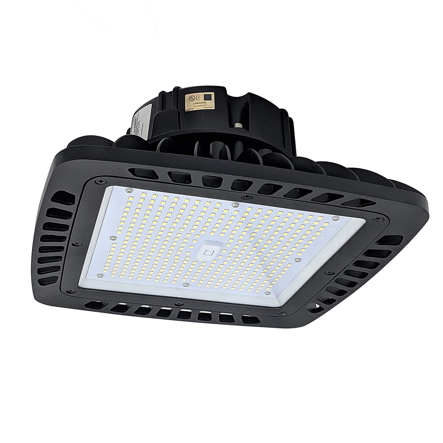 EverWatt 240W LED High Bay Light Fixture, 5000K, 33199 Lumens, Replaces Metal Halides and HPS, and is First Ever Compact LED Replacement for 4ft or 8ft Linear Fixtures for Warehouses and Shop Lights