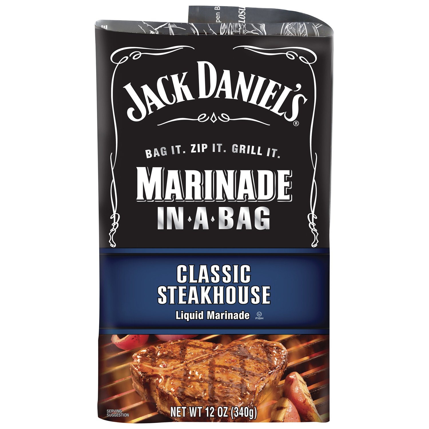 Jack Daniels Marinade In-A-Bag, Classic Steakhouse, 12 Ounce (Pack
