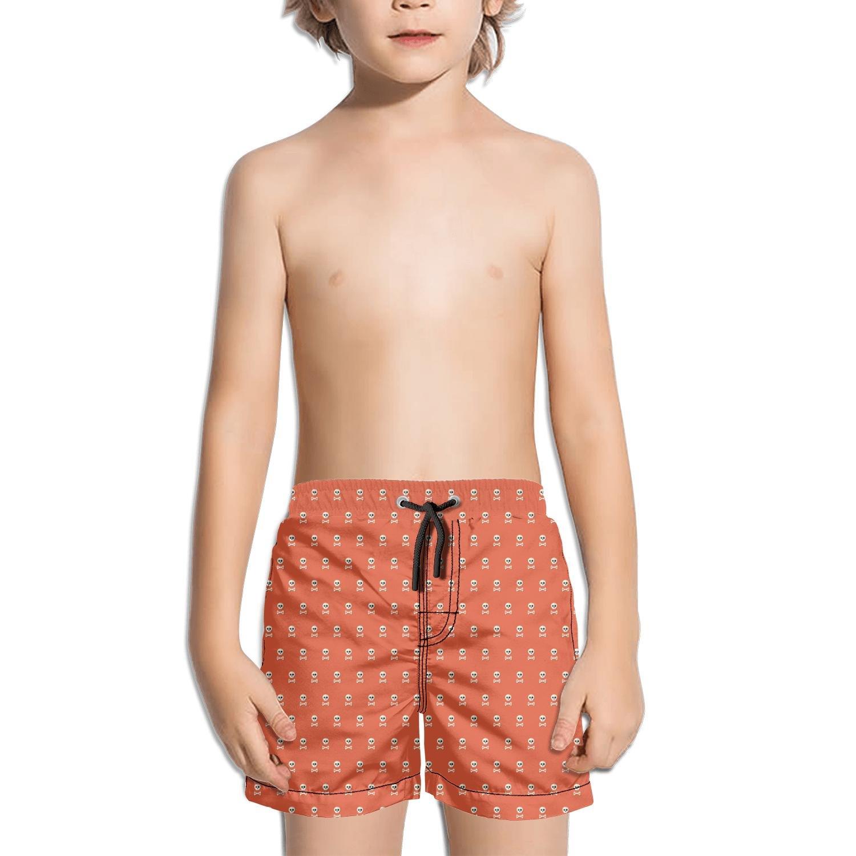 Websi Wihey Boy's Quick Dry Swim Trunks Skull and Crossbones Pink Fashione Shorts