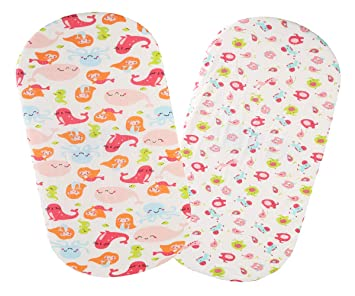 Changing Pad Cover Set 2 Pack 100/% Jersey Cotton 150 GSM Ultra Soft Stretchy Baby Girl Boy Mermaid Whale Sea Lion and Other Animal by Knlpruhk