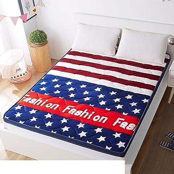 LLSVSDF 4d colchón de bambú de carbón de leña Respirable colchón estéreo colchón Tatami Espesado colchones Dormitorio Estudiante-I 120x200cm(47x79inch): ...