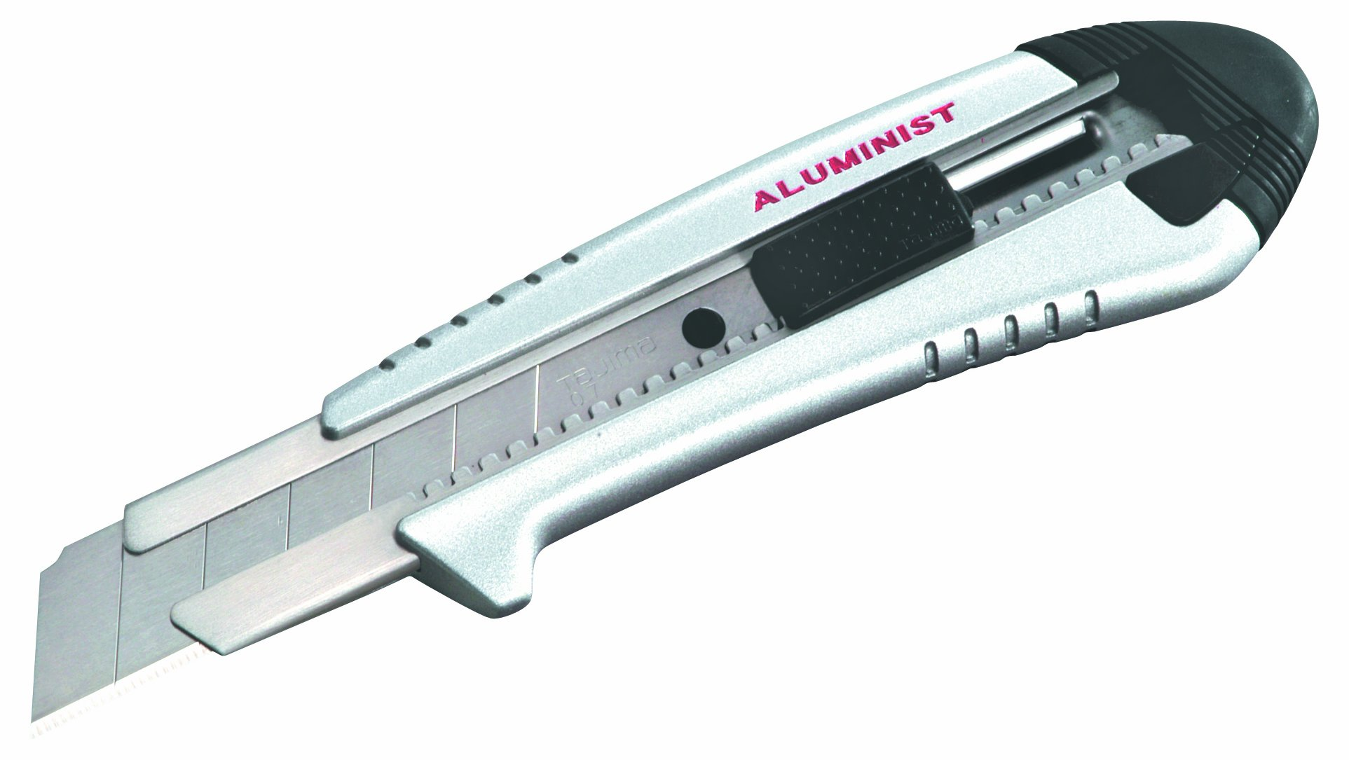 Tajima AC-700S Silver Rock Hard Aluminist knife, Auto Lock with 3 Rock Hard blades