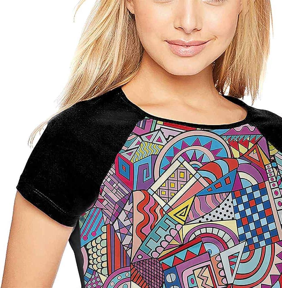 Short Sleeve,Poppy Decor,Floral Pattern with Poppies Fabric Design Style Artwork Grassland S-XXL Female Baseball Top Tee