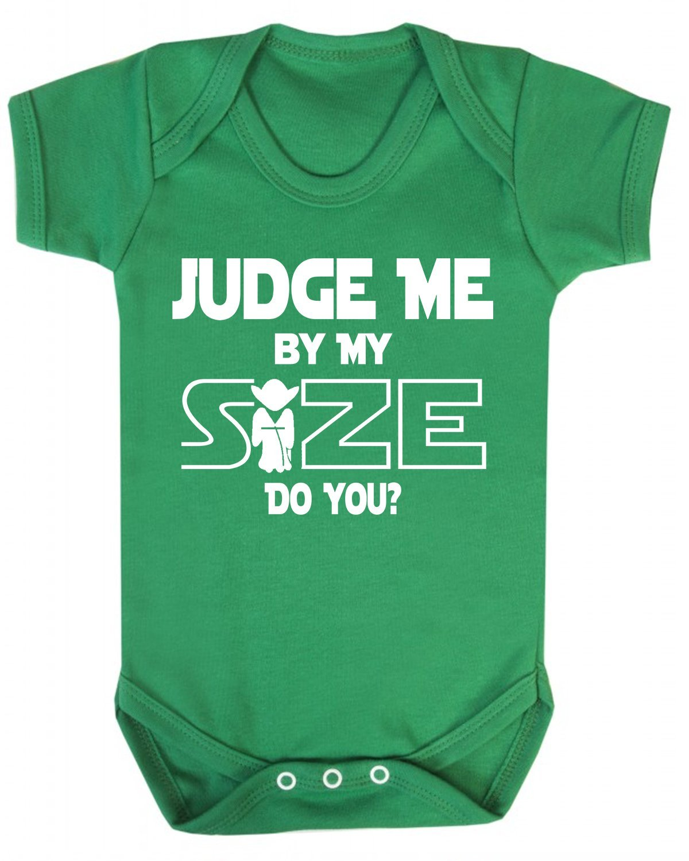 Star Wars novit/à gilet per neonato beb/è novit/à Jedi Yoda White 0-3 mesi Judge Me by My size do you