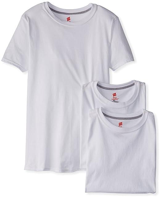 Hanes hombre Classics – ligero – Carcasa fina cuello redondo camiseta de manga corta para niños