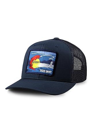 Dead Drift Fly Fishing Hat Colorado Trucker Snapback Navy by Fly (One Size f2337833567