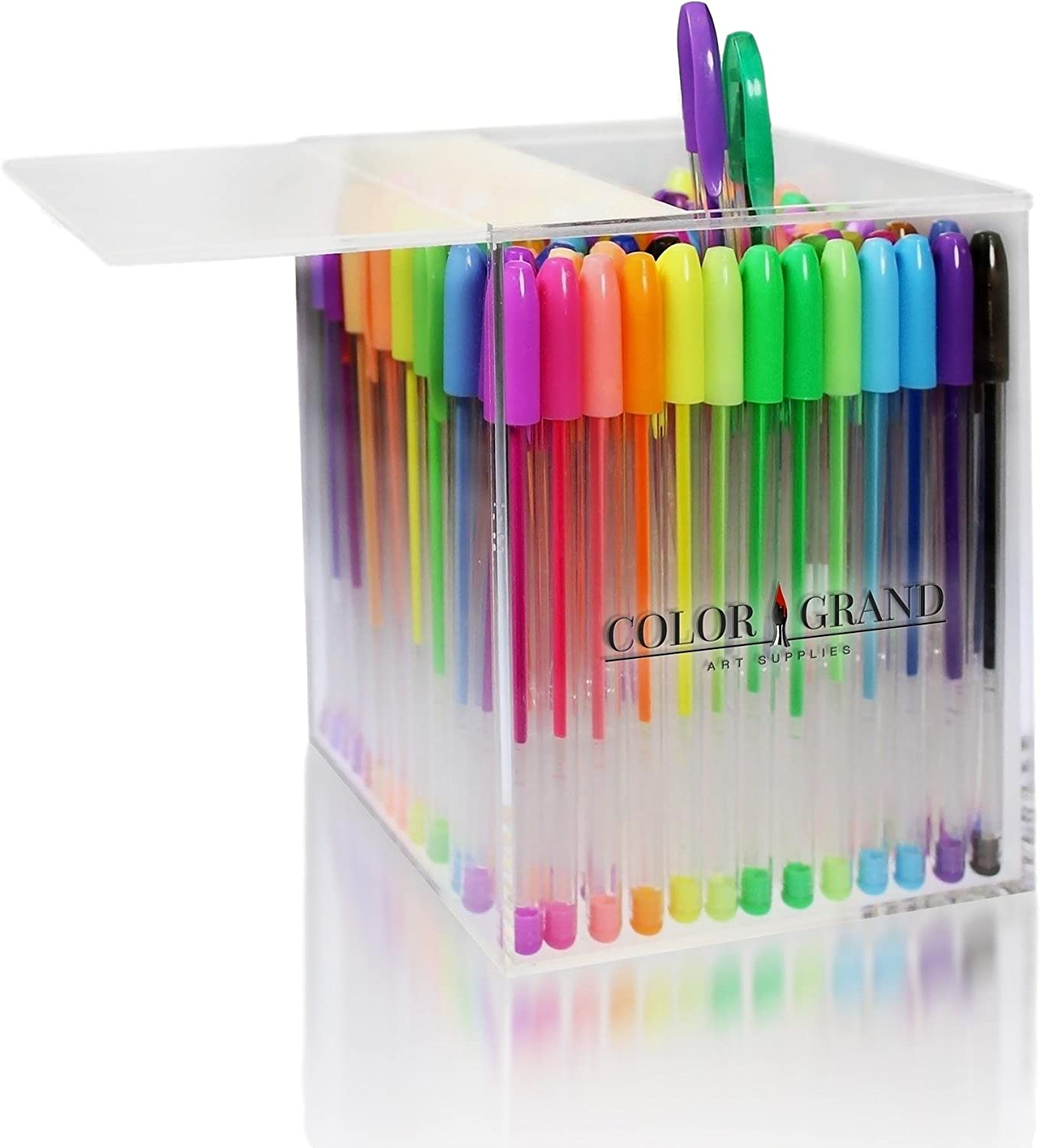Gel Pens Art Unique Colors 140 Set No Duplicates Adult Coloring Drawing Books