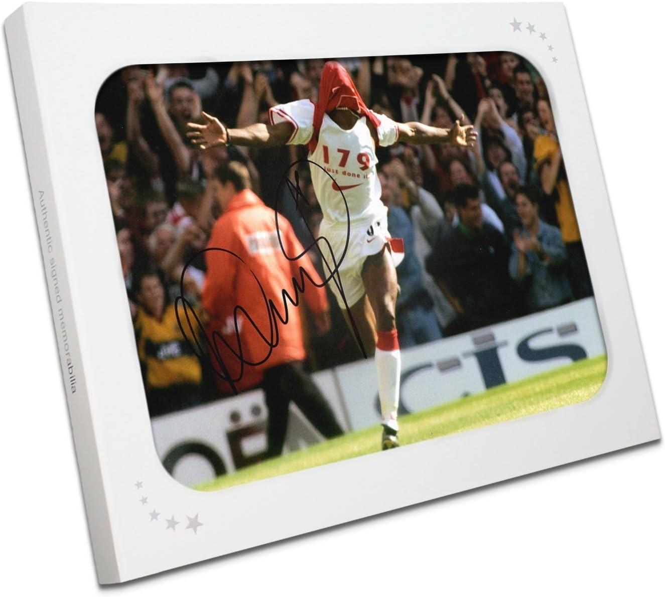 Ian Wright Firmado Arsenal Foto: 179 Objetivos, apenas hecho. En la caja de regalo: Amazon.es: Deportes y aire libre