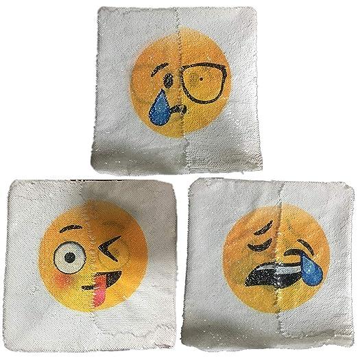 Emoji Fundas de cojín, Funda de Almohada con Lentejuelas ...