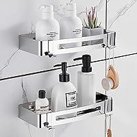 Hoomtaook badkamer douchehoek driehoekige hoekplank douchewand doucheplank, zonder boren, geen schade aan muurbeugel…
