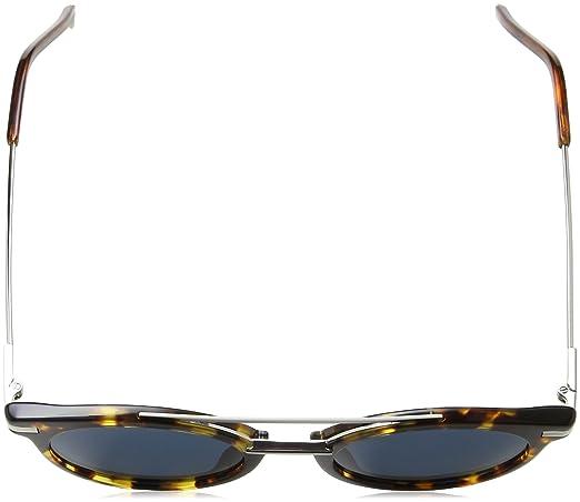 8724014e5bb0c Fendi FF 0225 9G0 KU Urban Black Plastic Round Sunglasses Blue Lens at  Amazon Women s Clothing store