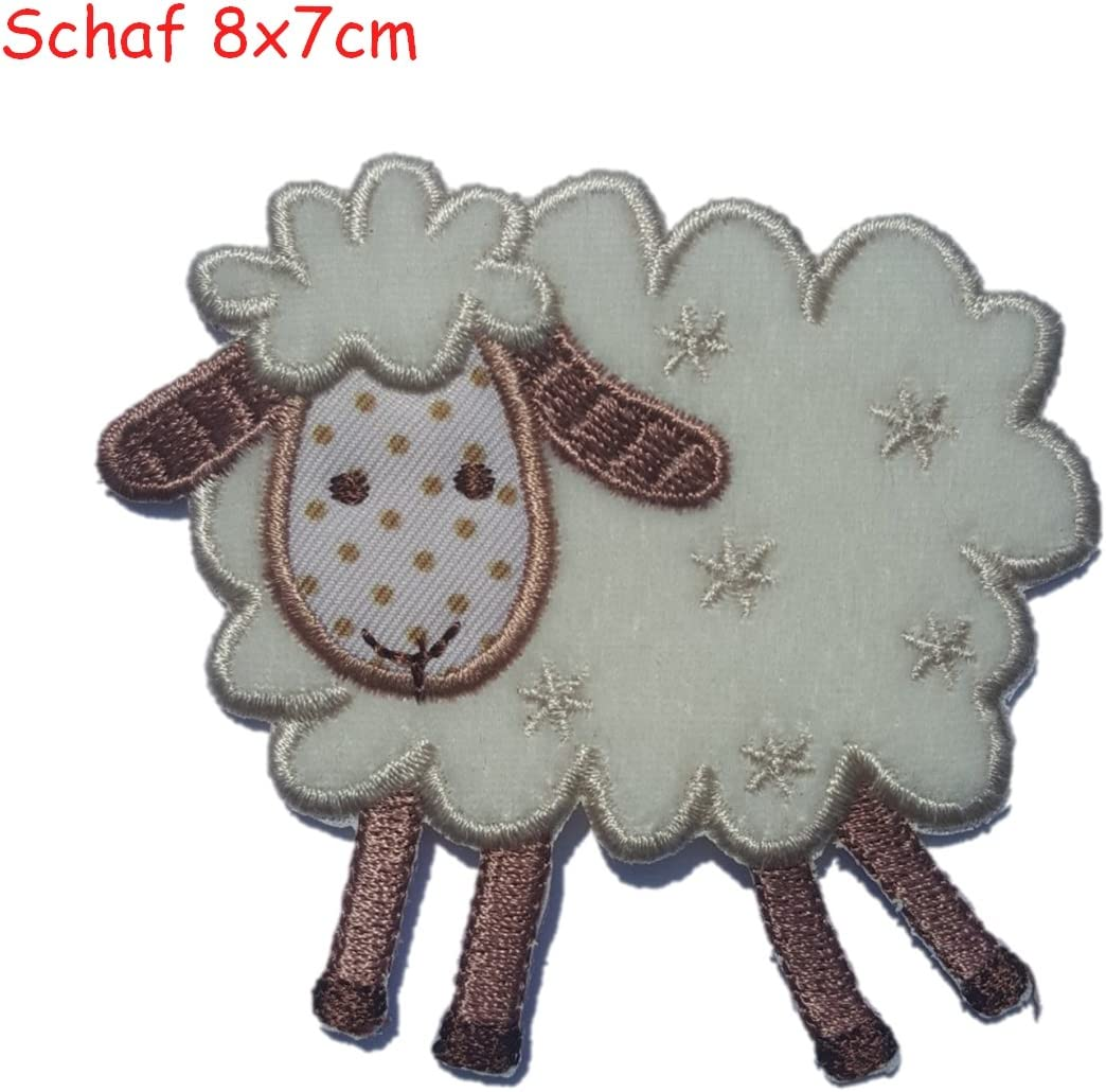 TrickyBoo Iron-on fabric embroidered appliques Tree 6.5x9 and Fox 6.5x8-2 craft patches Design Zurich