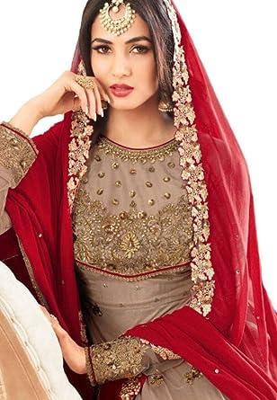 505c499772 Amazon.com: Reddymade New Designer Ethnic Were Indian/Pakistani Anarkali  Suit New VF (SMALL-38, Light Brown): Clothing