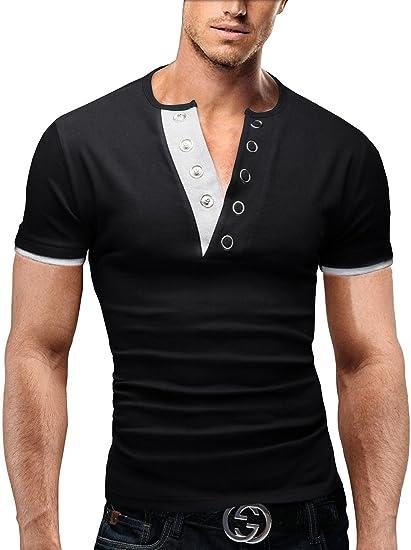 MERISH Camisetas para Hombre extraordinario diseño con el Placket ...