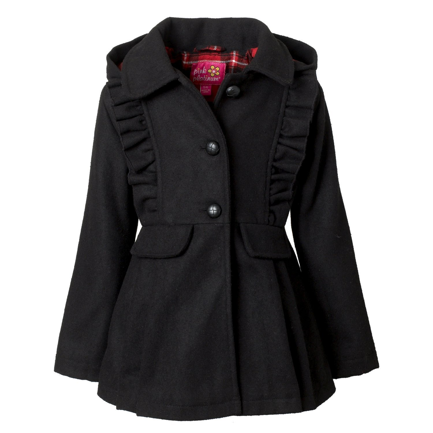 Pink Platinum Wool Coat for Girls, Babies & Toddlers –, Black, Size 24 Months