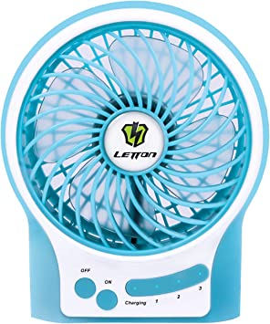 Letton Ventilador Portatil, Mini Ventilador de Mesa Pequeño ...