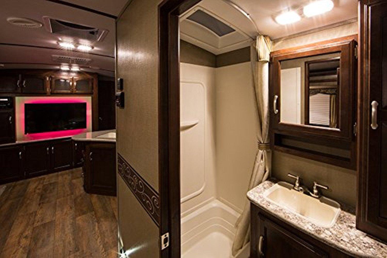 Kohree 12v Led Rv Ceiling Dome Light Fixture Interior Lighting For Trailer Camper With