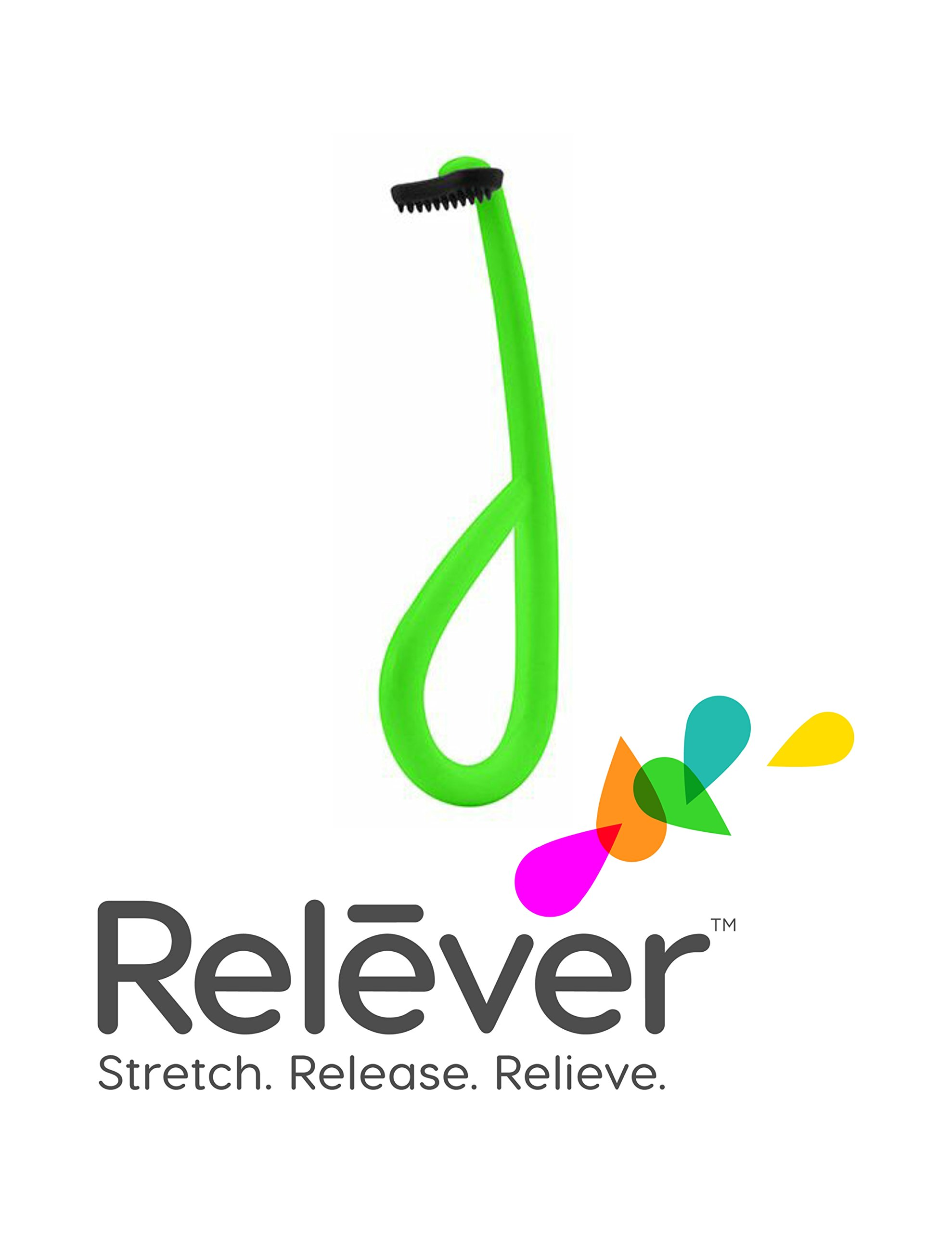 Natural Headache Relief Tool, Pain Relief, Tension, Anxiety and Migraine Headache Relief. RELEVER - Endorsed by Healthcare Professionals (Lime Green)