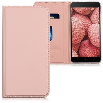 kwmobile Funda para Xiaomi Redmi Note 4 / Note 4X - Carcasa [Plegable] para móvil - Case con Tapa y [Soporte] en [Oro Rosa]