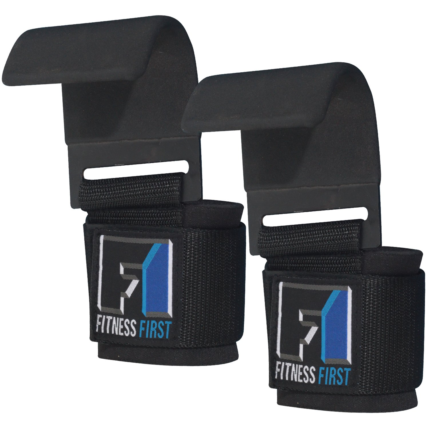 Ringside Inc Pair FIT1ST Fitness First Heavy Duty Weightlifting Hooks F1WLH2