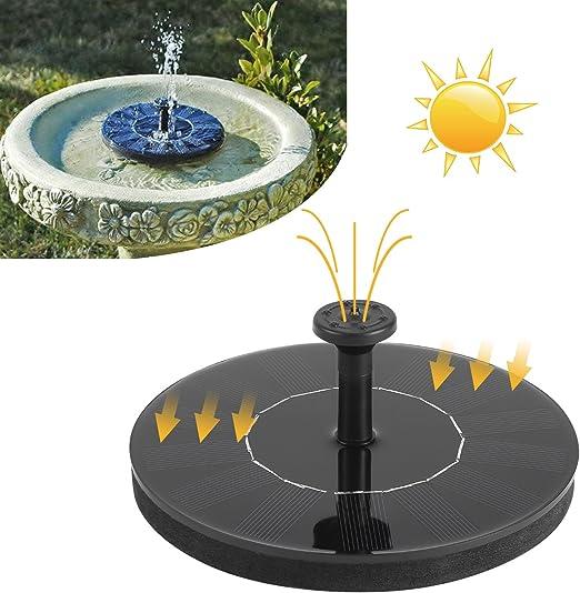 Edited Alta Calidad Sola Solar Bomba Solar Bomba para pozos 1,4 W Solar Fuente para Estanque, Estanque Piscina, Acuario, Decoración Jardín: Amazon.es: Jardín