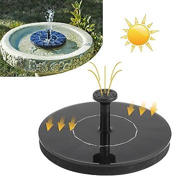 SunTop Mini Solar Springbrunnen Garten, Solar fontäne, 7V 1.2W ...
