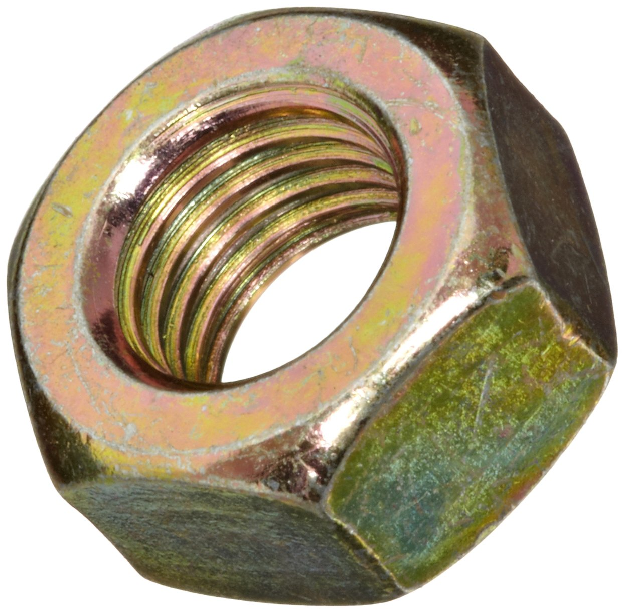Metric Plain Finish Brass Hex Nut 11 mm Width Across Flats DIN 934 5.5 mm Thick Pack of 25 M7-1 Thread Size
