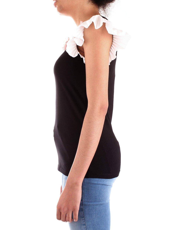Fracomina Womens FR19SP369NERO Black Cotton T-Shirt