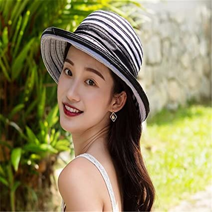 b8589963f9 GAOQIANGFENG Sombrero de Mujer UPF 50 +, Ropa de Verano, Casco de Sol,
