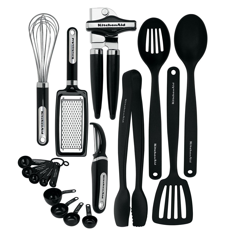 KitchenAid KC448BXOBA 17-Piece Tools and Gadget Set, Black by KitchenAid