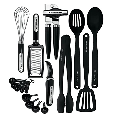 Amazon Com Kitchenaid Kc448bxoba 17 Piece Tools And Gadget Set