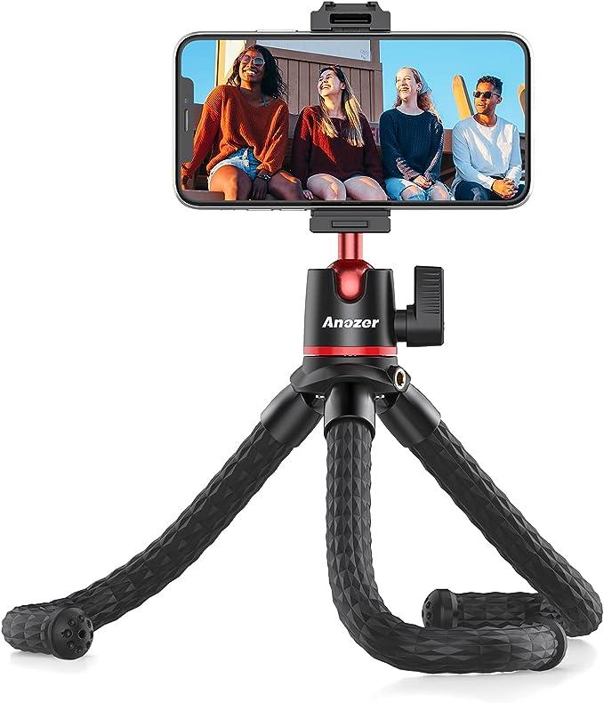 Anozer Handy Stativ Flexibel Gopro Stativ Mit Handy Amazon De Kamera