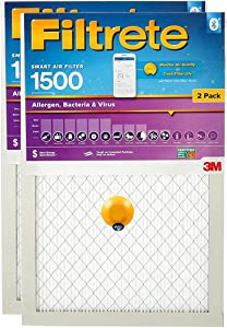 Filtrete Allergen Smart Replenishable AC Furnace Air Filter, Bacteria & Virus, MPR 1500, 16 x 20 x 1-Inches, 2-Pack
