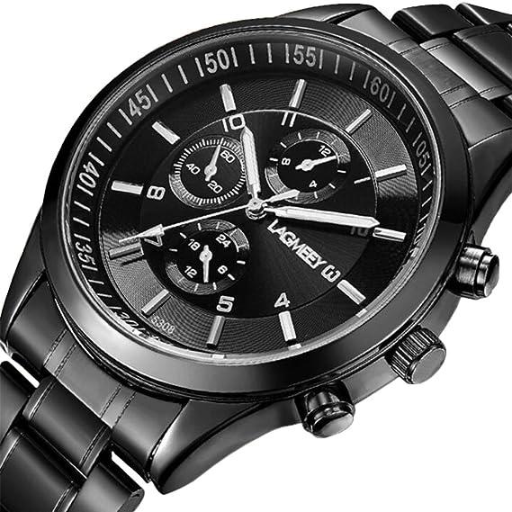 Rosepoem Relojes deportivos Relojes deportivos al aire libre Reloj impermeable de moda Reloj de esfera grande para los hombres Negro: Amazon.es: Relojes