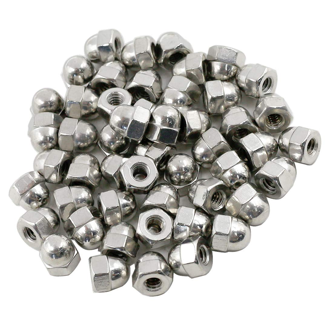 TOHIA 50pcs #10-24 Acorn Nuts Stainless Steel Coarse Thread Hex Cap Nuts