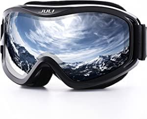 Juli Ski Goggles,Snow Snowboard Goggles Men Women Snowmobile Skiing Skating