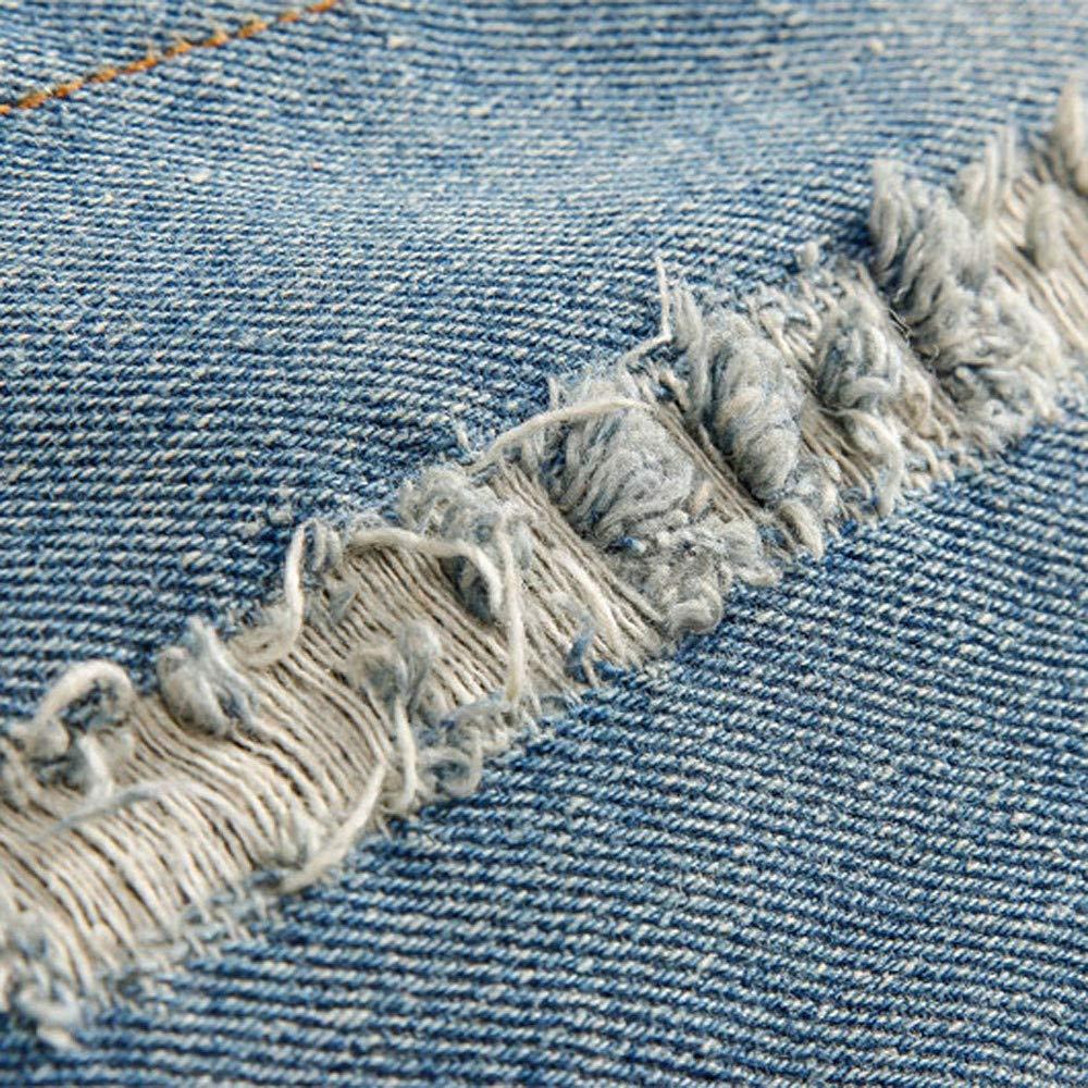 GoodLock Clearance! Mens Fashion Denim Hooded Coats Autumn Winter Pocket Button Rinsing Flick Jacket Coats