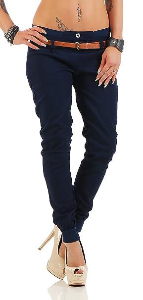 cleostyle Modernas Mujer Pantalones de Tela Chinos Boyfriend ...