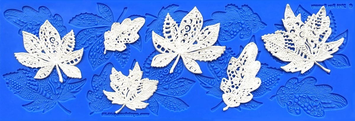 Lacy Leaves Silicone Lace Mat by Crystal Candy