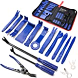 19 pcs Trim Removal Tool,Car Panel Door Audio Trim Removal Tool Kit, Auto Clip Pliers Fastener Remover Pry Tool Set with Storage Bag