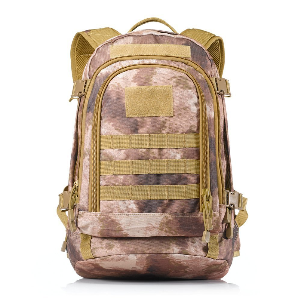 Yakeda A88051 600D Waterproof Polyester Military Backpack, Black