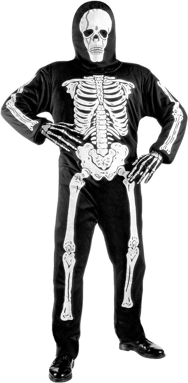 WIDMANN 38117 - Disfraz de esqueleto para niño (8 años) (talla 140)