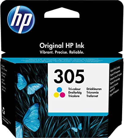 Oferta amazon: HP 305 3YM60AE, Tricolor, Cartucho de Tinta Original, compatible con impresoras de inyección de Tinta HP DeskJet 2700, 2730, 4100, 4134, Envy Serie 6020, 6030, 6420, 6430