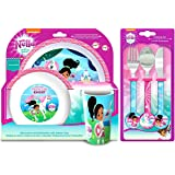 Nella The Princess Knight 6-Piece Dinner and Cutlery Set | Tumbler, Bowl, Plate, Knife, Fork and Spoon