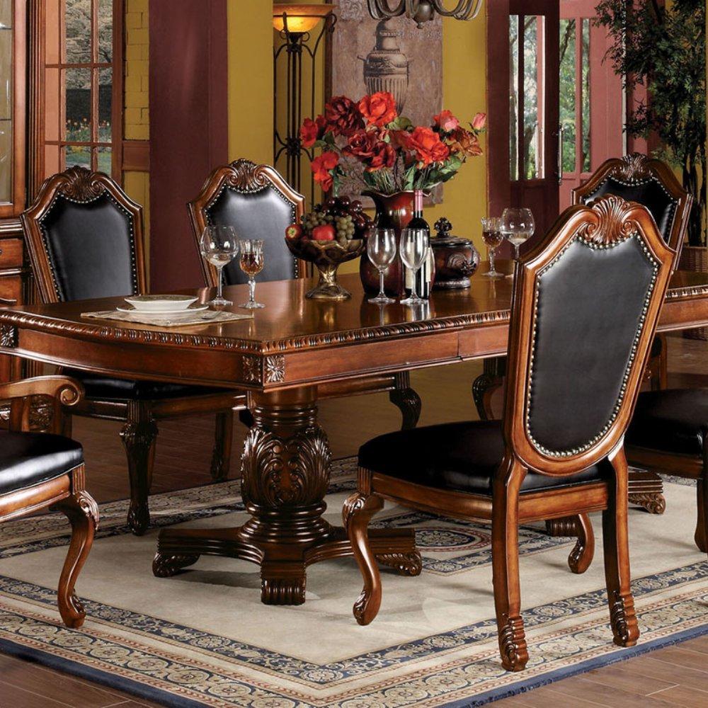 acme Chateau de Ville Cushion Side Chair, Cherry Finish, Set of 2