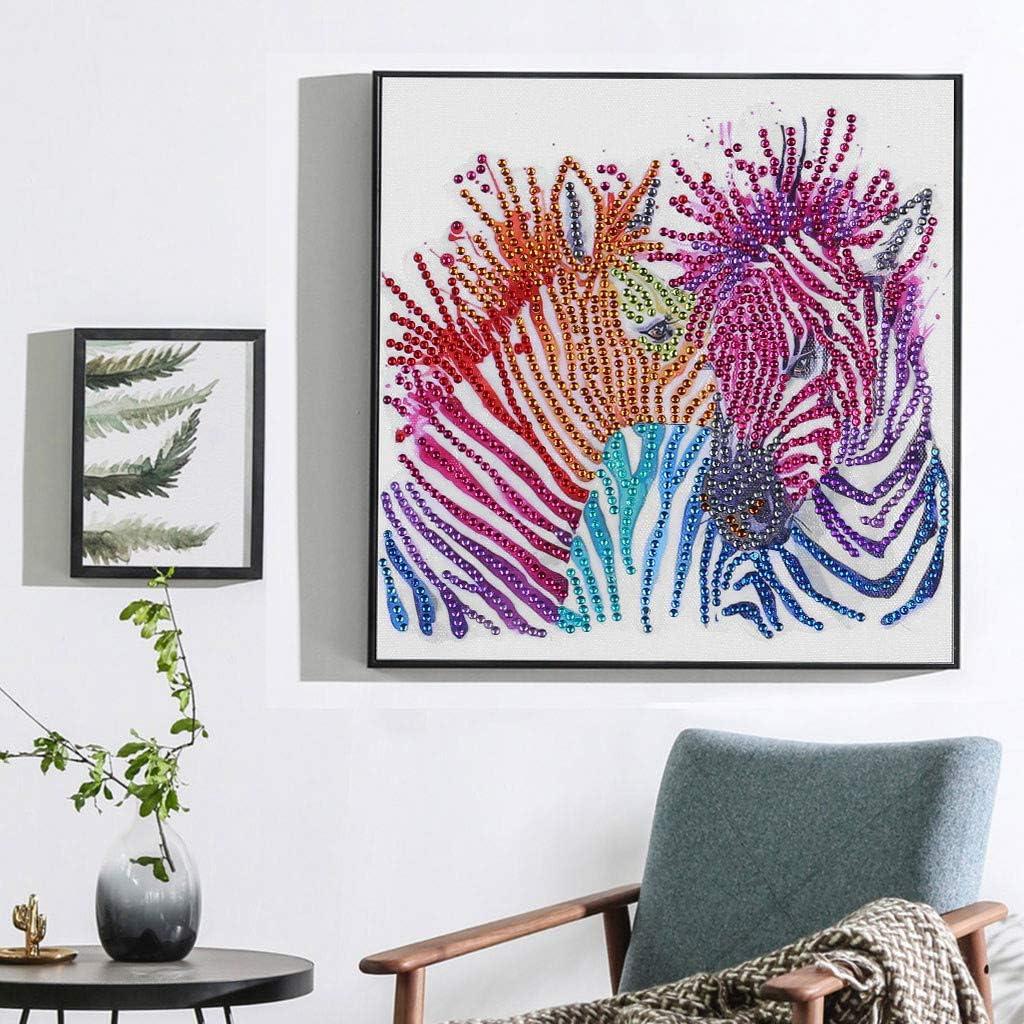 WOBANG Diamond Painting, Zebra Muster 5D Diamant Set Dibujo DIY ...
