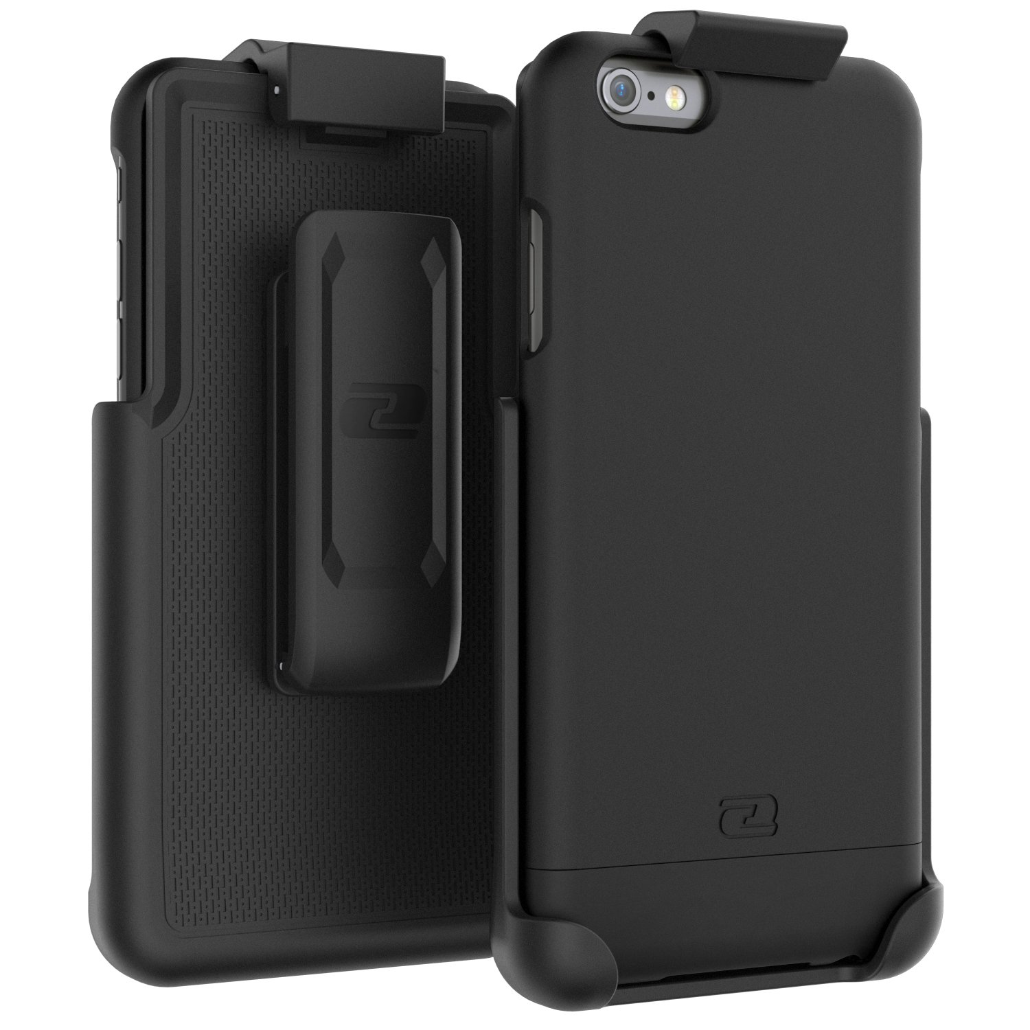 Encased Belt Case iPhone 6/6S, [SlimShield Series] Protective Grip Case with Holster Clip for Apple iPhone 6 (Smooth Black) by Encased (Image #1)