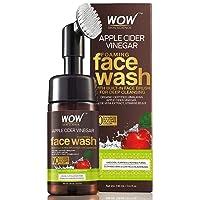 WOW Apple Cider Vinegar Exfoliating Face Wash W/Brush - Soft, Silicones Bristles...