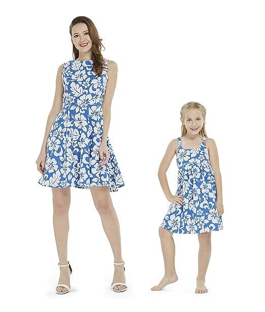 Amazon.com: A juego madre e hija Luau hawaiano atuendo ...