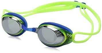 12f700af1e7 TYR Sport LGBHJRM 719 Goggles Blackhawk Racing Mirrored Junior Silver  Fluorescent Yellow Blue